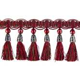Red & Multi Tassel Fringe Home Decor Trim